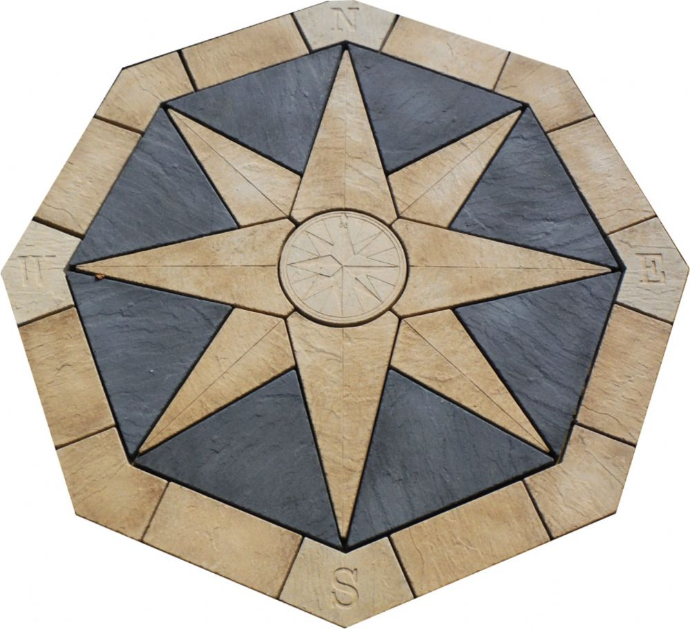 2400mm Compass Feature In Buff / Slate Grey ( no infill )
